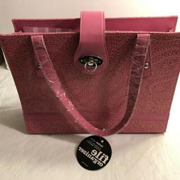 nwt pink paisley purse looking expandable file