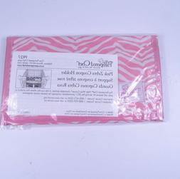 Pampered Chef Pink Zebra Help Whip Cancer Coupon Holder 2011