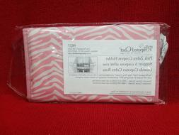 pink zebra coupon holder