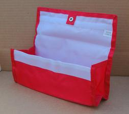 Red Deluxe Hannah Hansen Coupon Organizer Expandable w/ 2 FR