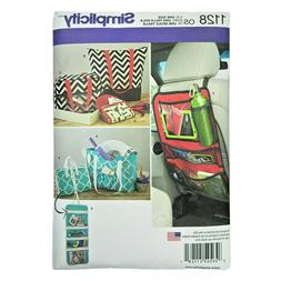 Simplicity Sewing Pattern Totes & Organizers for Travel Car