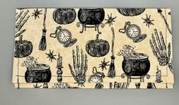 Vintage Halloween Fabric Envelope. Coupon Organizer. Wallet.