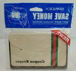 Vintage NOS Spindex Coupon Keeper - 12 Indexed Coupon Catego