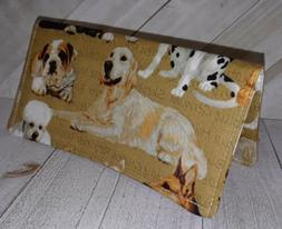 Wallet Checkbook Cover Document Coupon Organizer Dog Breed F