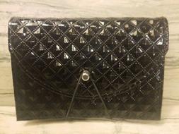 Womens Wallet Organizer File Coupon Holder Black NEW - B151