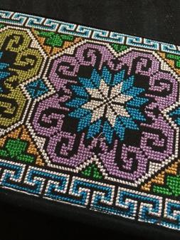 Wristlet - Boho Embroidered Clutch - Organizer Coupon holder